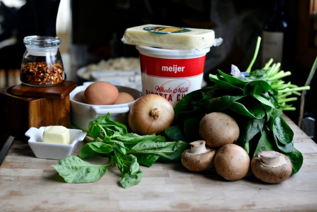 Spinach & Mushroom Ricotta Frittata l SimplyScratch.com (1)