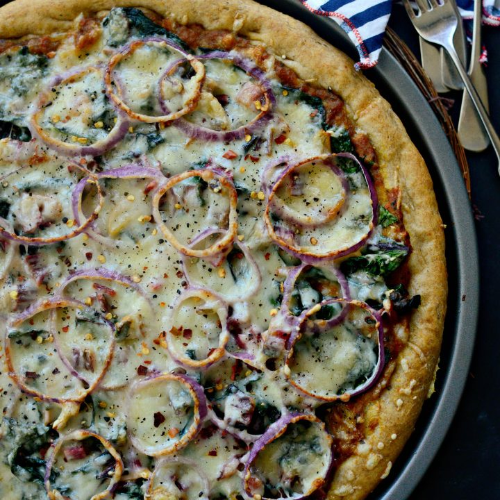 Toasted Garlic + Swiss Chard Pizza