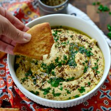 Za'atar + Roasted Garlic Hummus l SimplyScratch.com  (22)