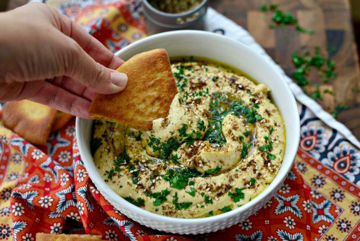 Za'atar Roasted Garlic Hummus