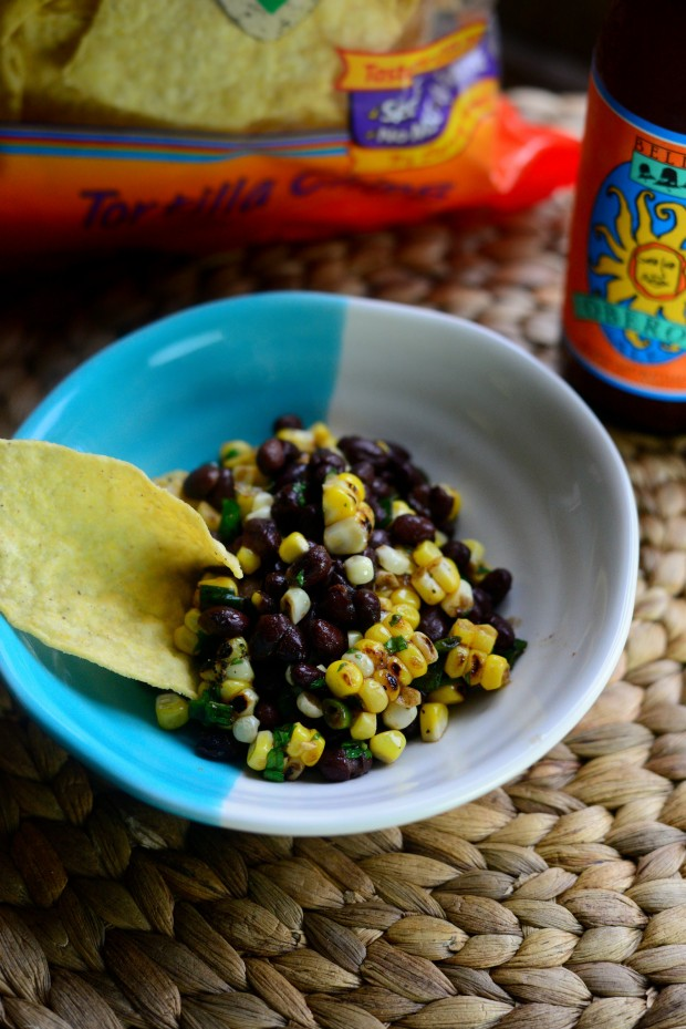 Black Bean + Grilled Corn Salad l SimplyScratch.com