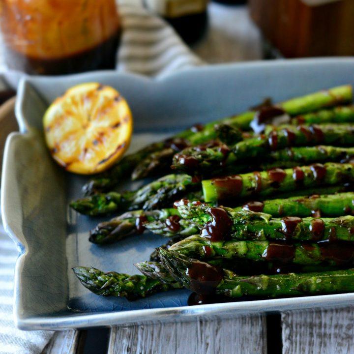 Grilled Asparagus with Balsamic Honey-Dijon Vinaigrette