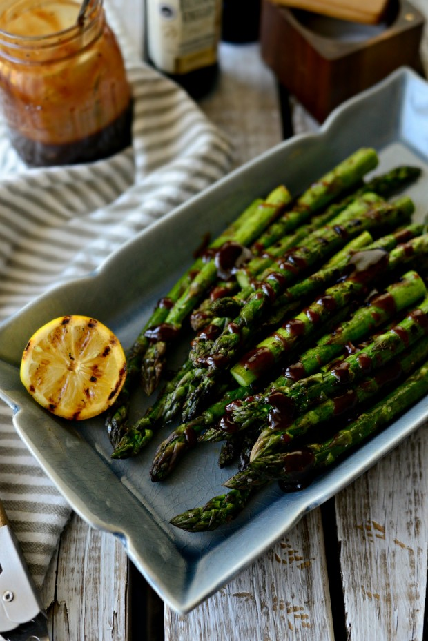 Grilled Asparagus with Balsamic Honey-Dijon Dressing l SimplyScratch.com (21)