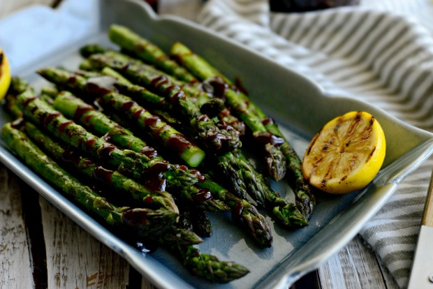 Grilled Asparagus with Balsamic Honey-Dijon Dressing l SimplyScratch.com (23)