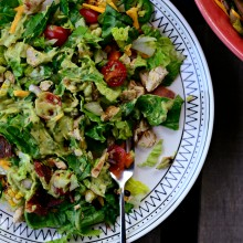 Bacon + Chicken Chopped Salad with Smoky Cilantro Avocado Dressing l SimplyScratch.com  (18)