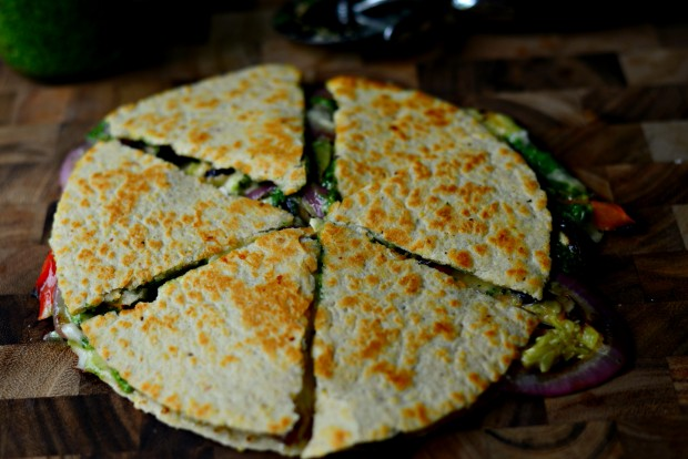 Vegetable Spinach Pesto Quesadillas l SimplyScratch.com