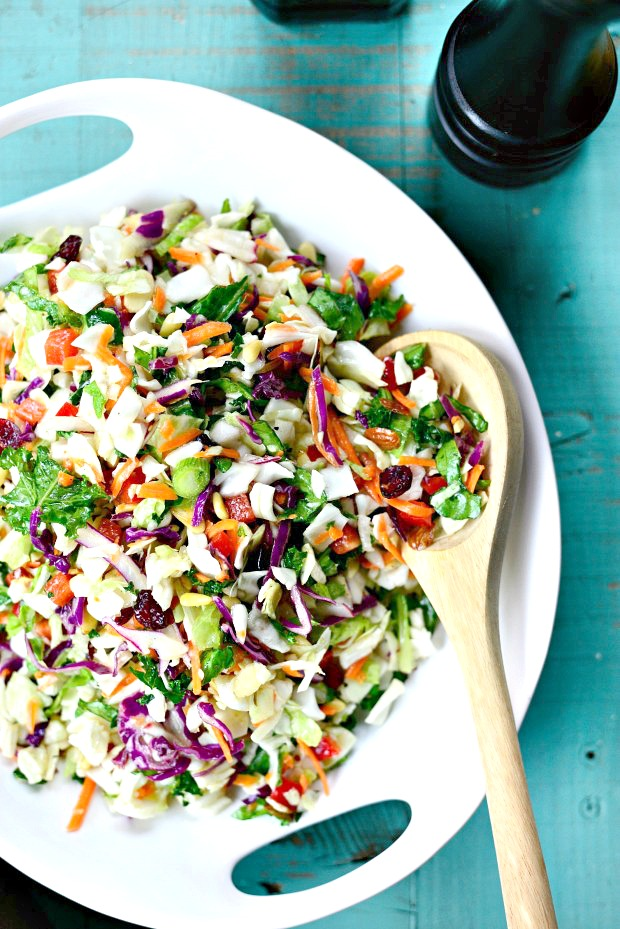 Rainbow Crunch Salad l SimplyScratch.com
