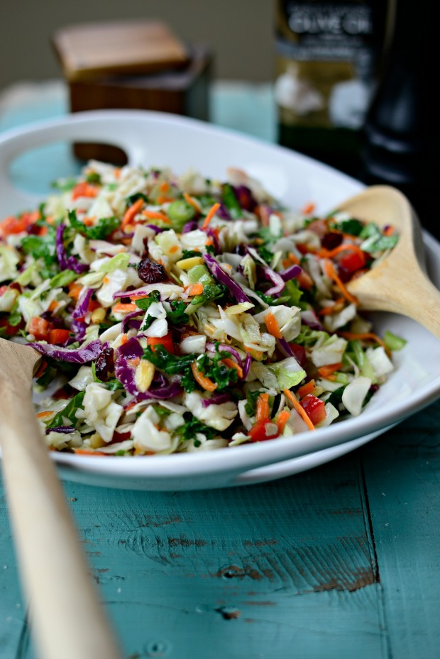 Rainbow Crunch Salad is colorful and SUPER simple to whip up. You can ...