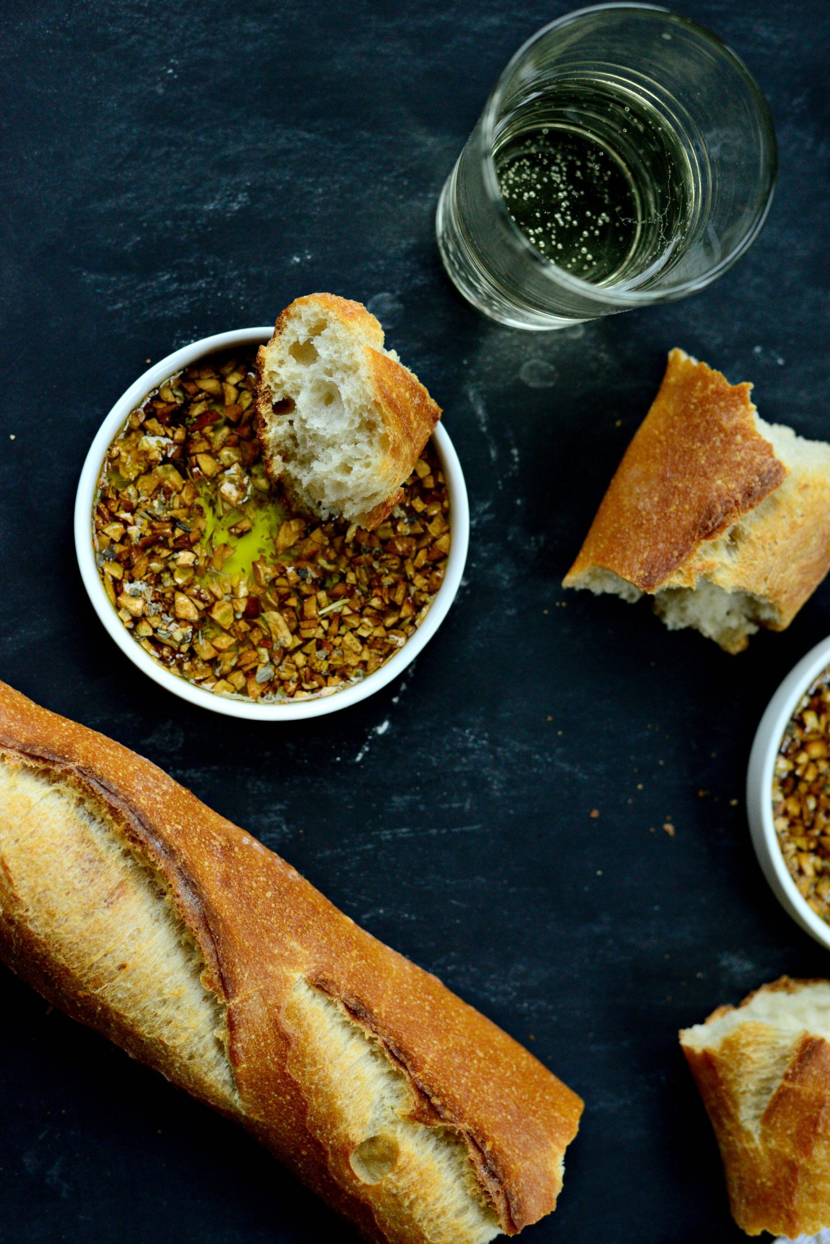 Toasted Garlic Olive Oil Bread Dip - Simply Scratch