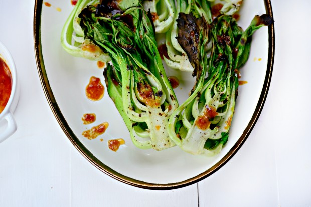 Grilled Baby Bok Choy + Ginger Chili Sauce l SimplyScratch.com (012)