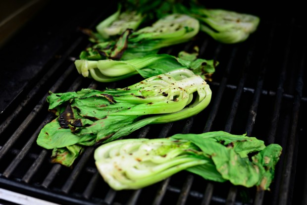 Grilled Baby Bok Choy + Ginger Chili Sauce l SimplyScratch.com (8)