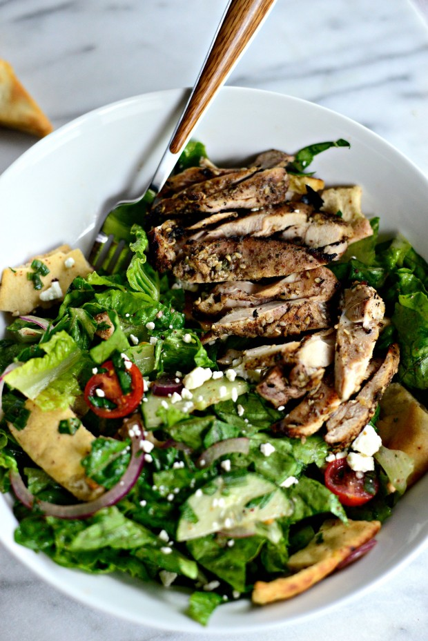 Grilled Chicken Fatoush Salad l SimplyScratch.com  (18)