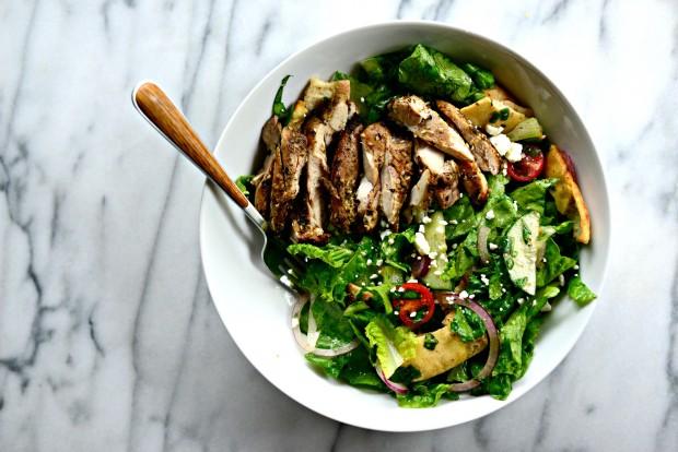 Grilled Chicken Fattoush Salad l SimplyScratch.com  (20)