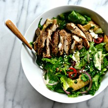 Grilled Chicken Fatoosh Salad l SimplyScratch.com  (20)