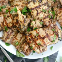 Grilled Za'atar Chicken Thighs l SimplyScratch.com (10)