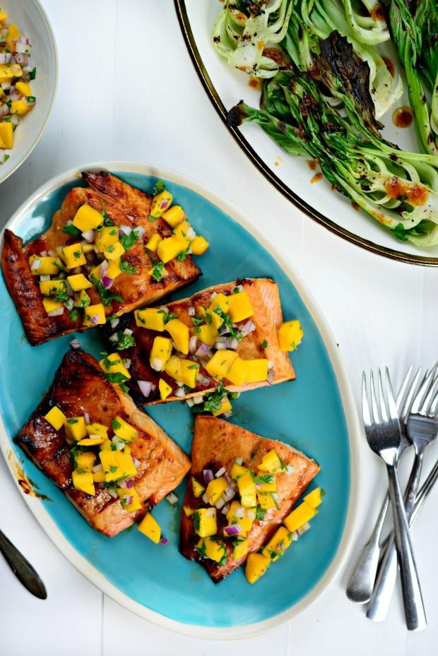 Honey Glazed Salmon + Fresh Mango Salsa (011)