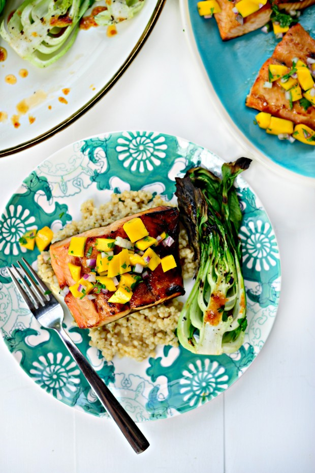 Honey Glazed Salmon + Fresh Mango Salsa (013)
