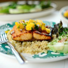 Honey Glazed Salmon + Fresh Mango Salsa (014)