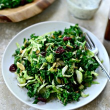 Kale + Brussels Sprout Chopped Salad l SimplyScratch.com  (015)