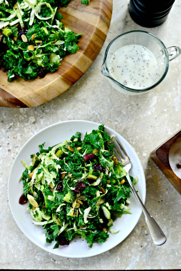 Kale + Brussels Sprout Chopped Salad l SimplyScratch.com (016)