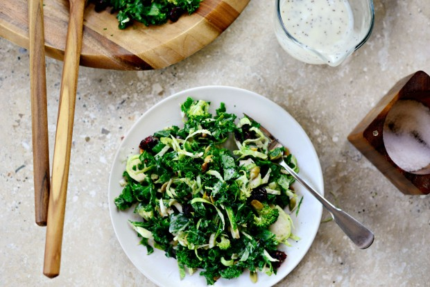 Kale + Brussels Sprout Chopped Salad l SimplyScratch.com (017)