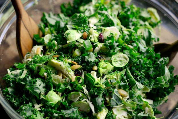Kale + Brussels Sprout Chopped Salad l SimplyScratch.com (11)