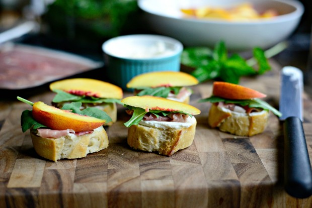 Peach, Prosciutto + Goat Cheese Crostini l SimplyScratch.com (11)