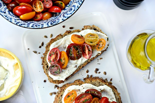 Whipped Feta + Marinated Tomato Toasts l SimplyScratch.com (19)