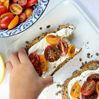 Whipped Feta + Marinated Tomatoes on Toast