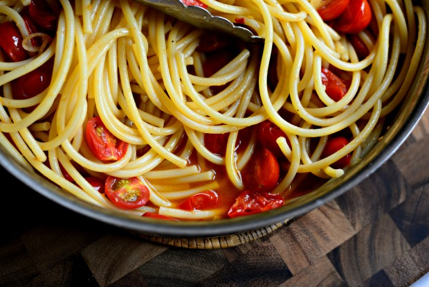 Perciatelli + a 10-minute Fresh Cherry Tomato Sauce (23)