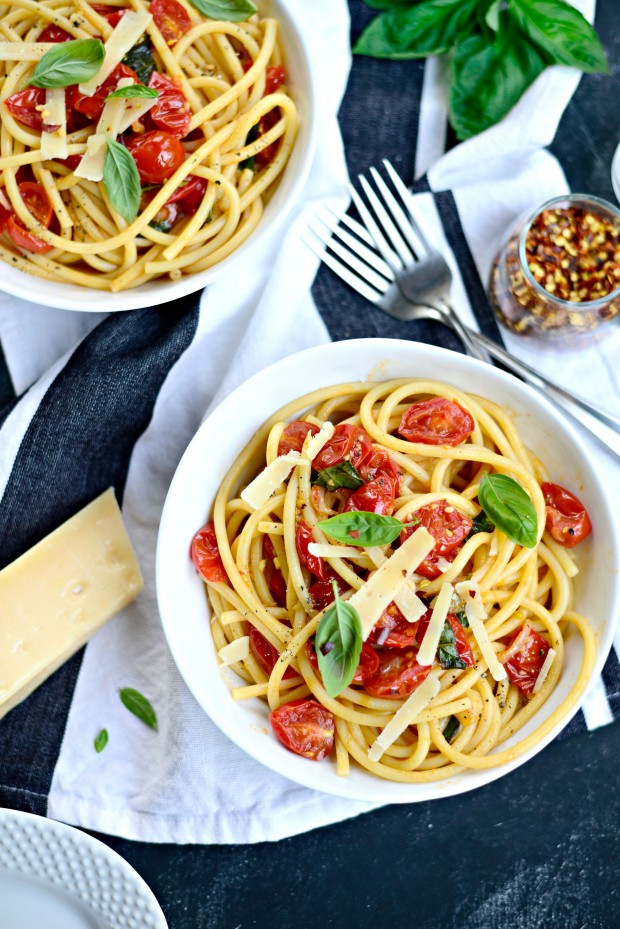 Perciatelli + a 10-minute Fresh Cherry Tomato Sauce (25)