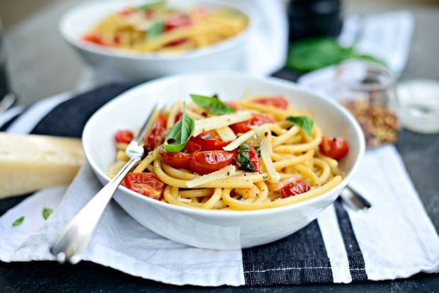 Perciatelli + a 10-minute Fresh Cherry Tomato Sauce (26)