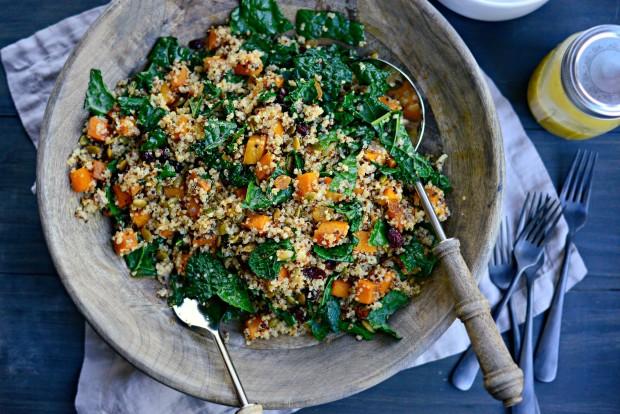 Warn Butternut, Kale + Quinoa Salad l SimplyScratch.com (016)