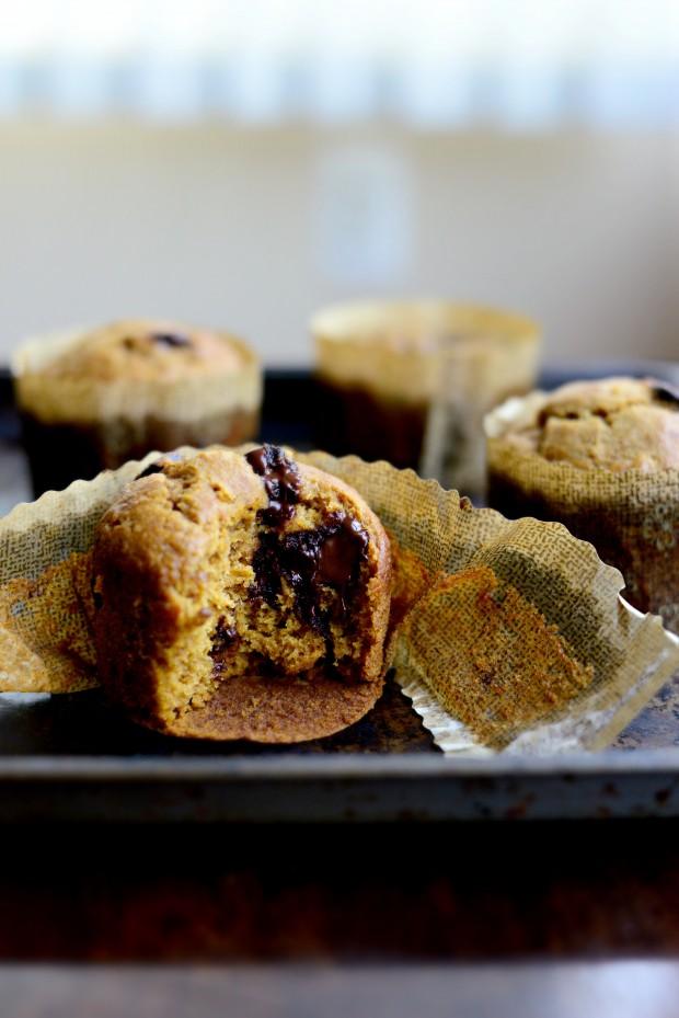 Pumpkin Chocolate Chip Muffins l SimplyScratch.com (29)