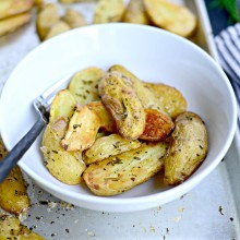 Roasted Rosemary + Smoked Salt Fingerlings l SimplyScratch.com  (16)