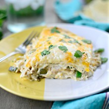 White Chicken Enchilada Lasagna l SimplyScratch.com  (34)