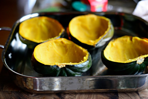 Twice Baked Spinach + Parmesan Acorn Squash l SimplyScratch.com (16)
