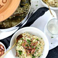 Bacon, Mushroom & Leek Risotto