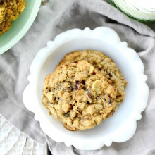 Cranberry White Chocolate & Pecan Oatmeal Cookies l SimplyScratch.com (023)
