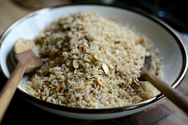Garlicky Toasted Almond Basmati Rice l SimplyScratch.com (15)