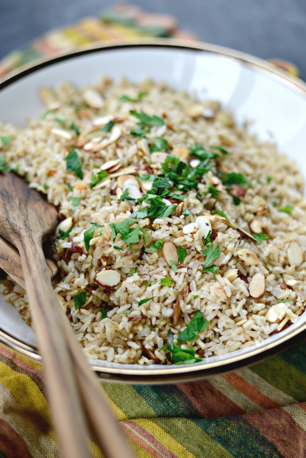 Garlicky Toasted Almond Basmati Rice l SimplyScratch.com (17)