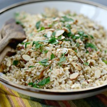 Garlicky Toasted Almond Basmati Rice l SimplyScratch.com  (19)