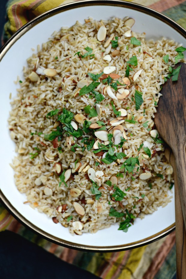 Garlicky Toasted Almond Basmati Rice l SimplyScratch.com (21)