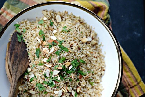 Garlicky Toasted Almond Basmati Rice l SimplyScratch.com (22)