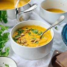 Roasted Ginger Carrot Soup l SimplyScratch.com  (22)