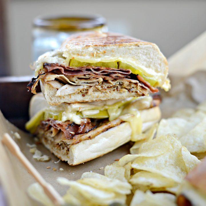 Pressed Cuban Sandwich with Roasted Garlic Aioli