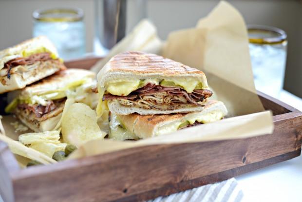 Pressed Cuban Sandwich with Roasted Garlic Aioli l SimplyScratch.com