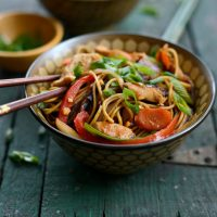 Chicken Rainbow Vegetable Stir-Fry