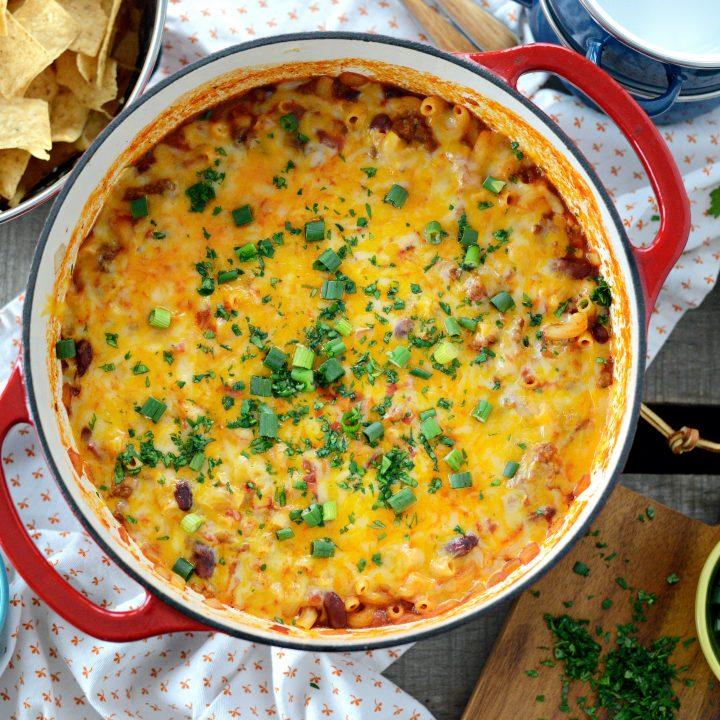 One Pot Chili Mac & Cheese
