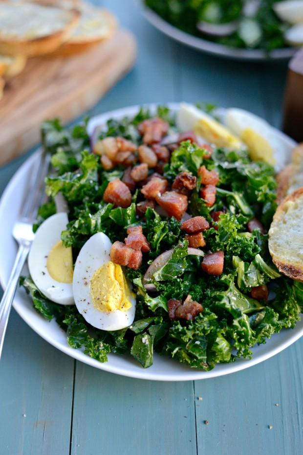 Winter Kale + Crispy Pancetta Salad with Bleu Cheese Toasts (22)